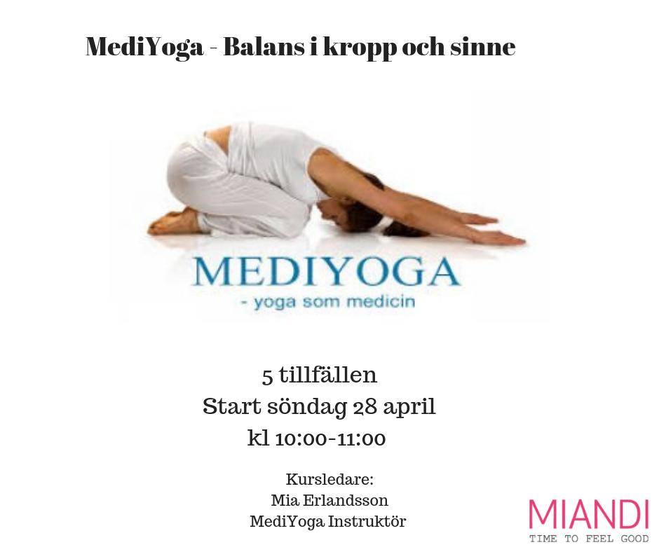 MediYoga- Balans i kropp och sinne