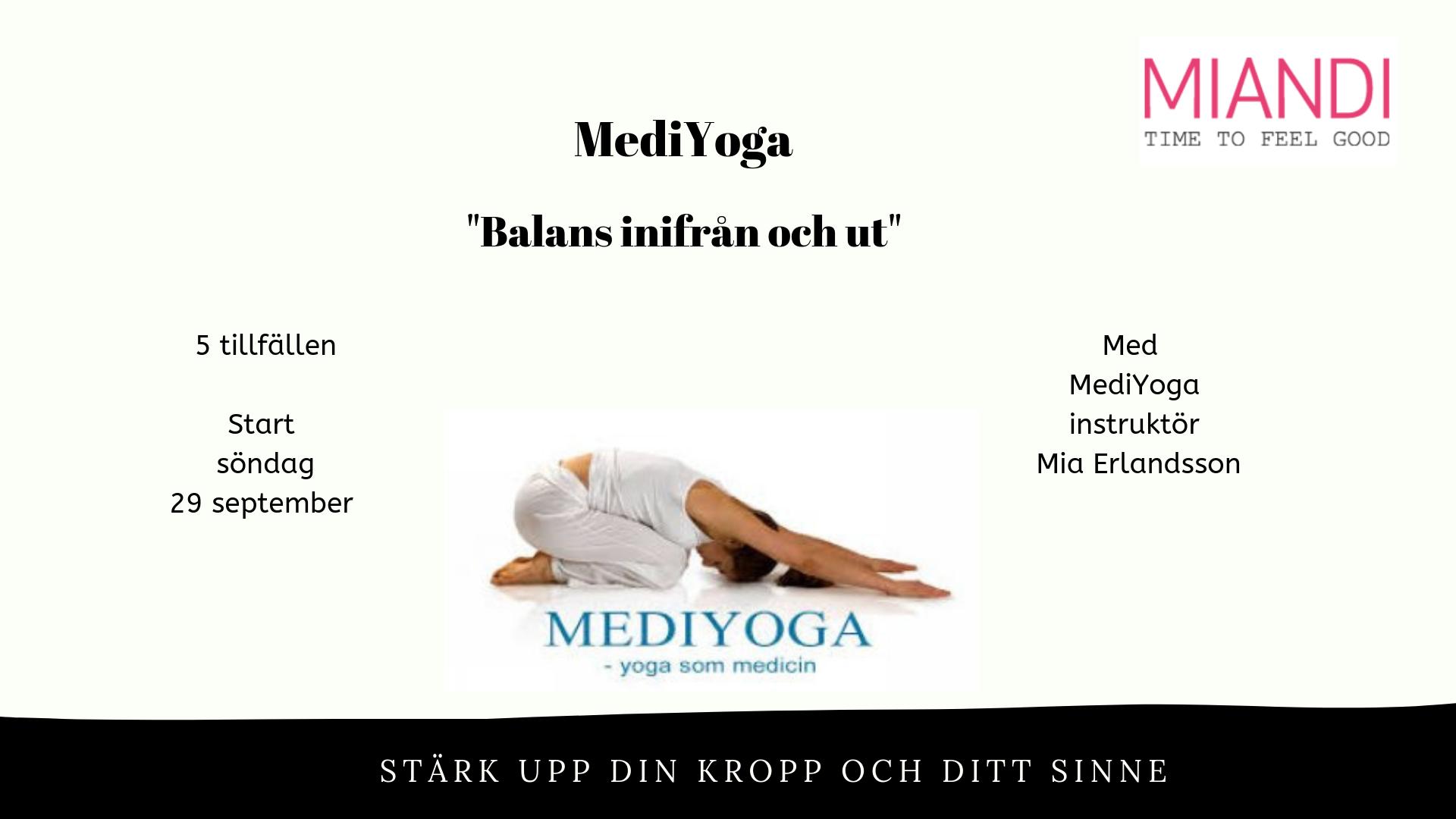 MediYoga - balans inifrån och ut söndagar