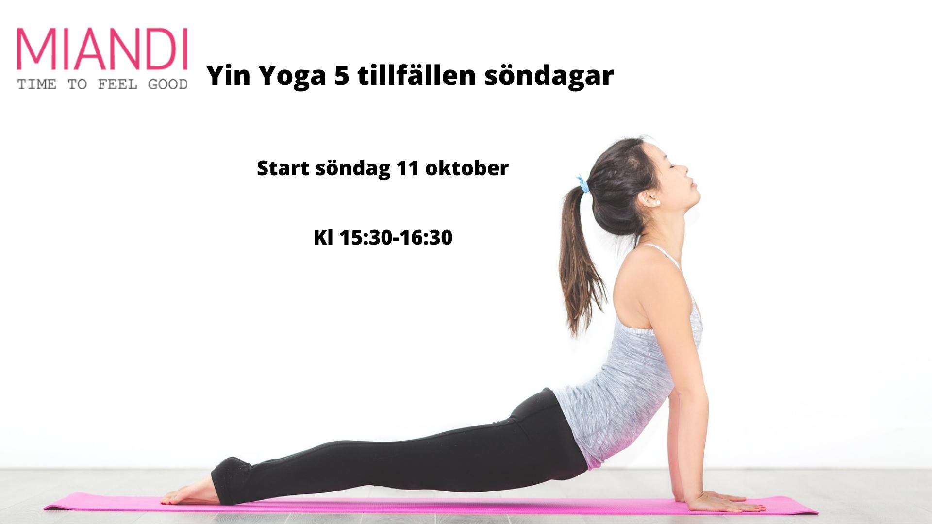 Yin Yoga 5 tillfällen söndagar