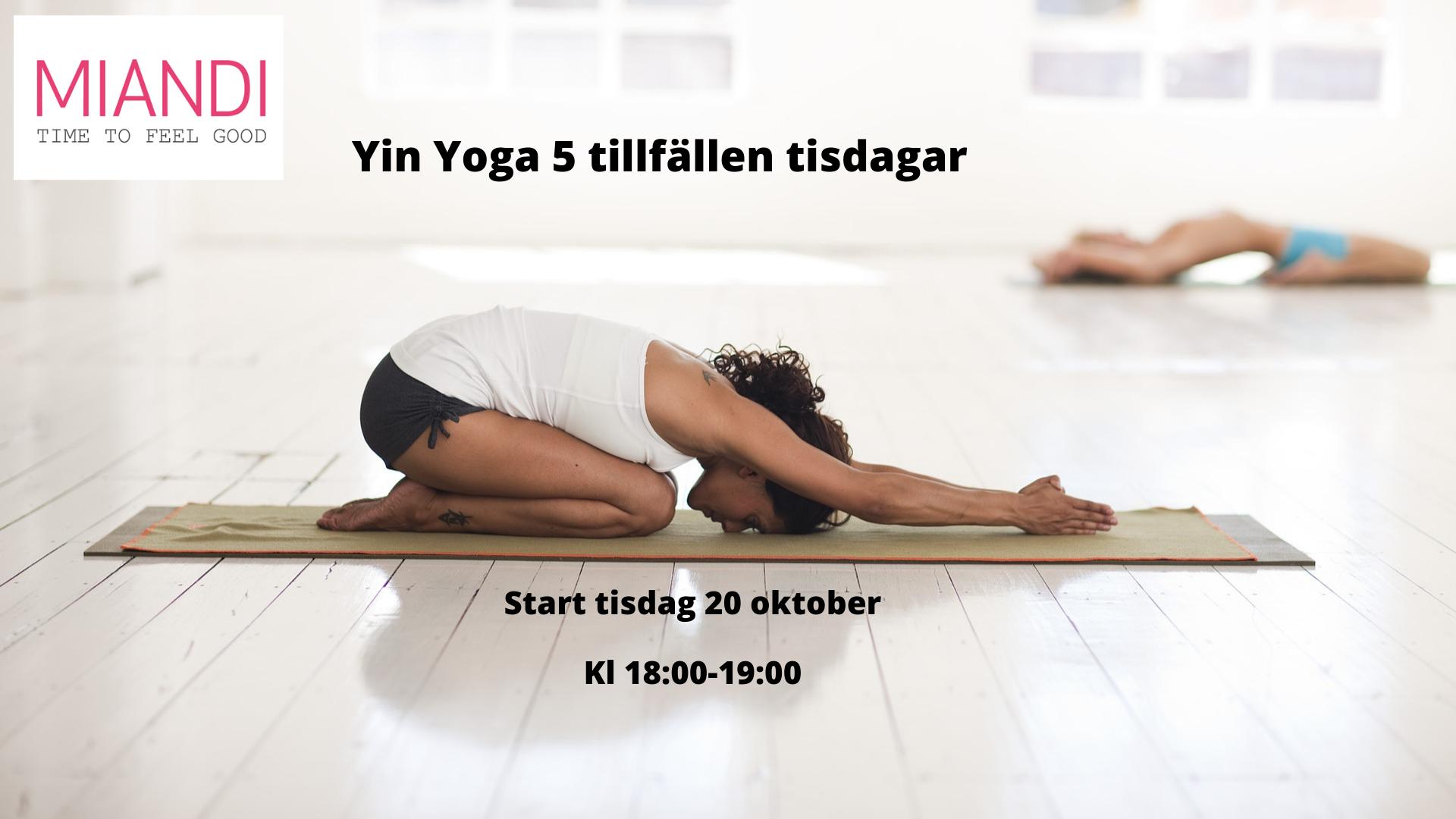Yin Yoga 5 tillfällen start 20 okt