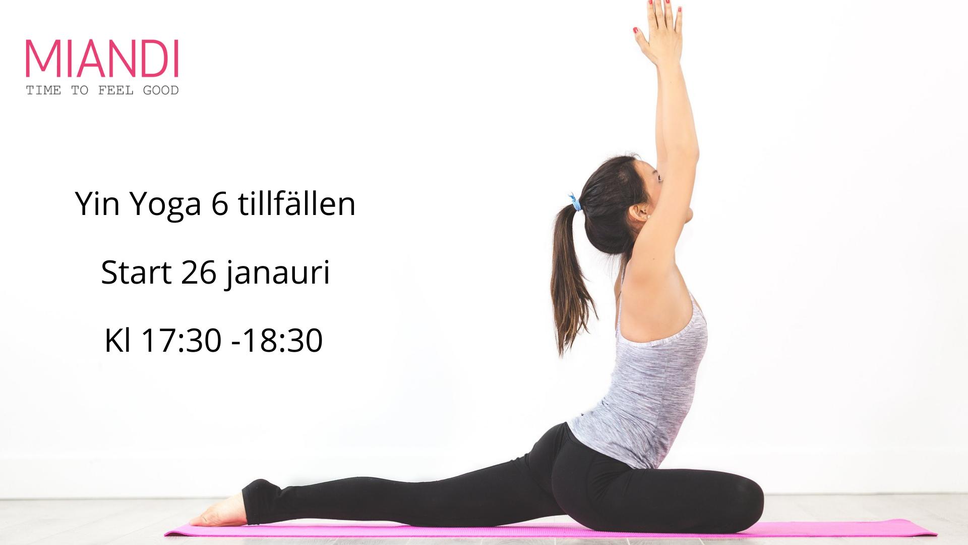 Yin Yoga 6 tillfällen tisdagar