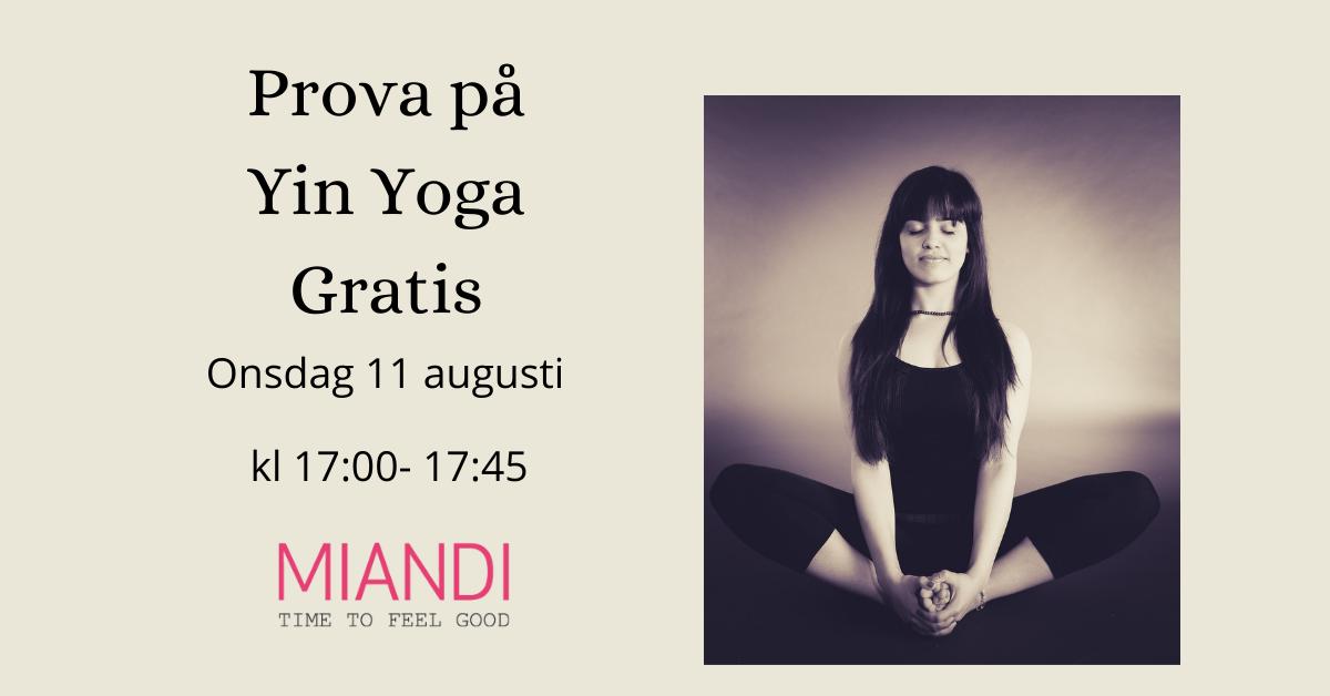 Prova på Yin Yoga gratis