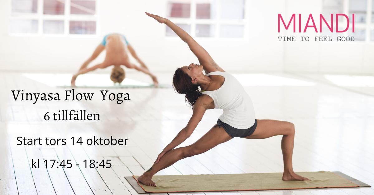 Vinyasa Flow Yoga 6 tillfällen